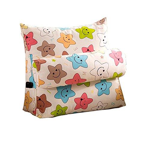 Réglage triangulaire Coussin/coussin de cale arrière, canapé-lit de bureau Toile Coussins de repos grande Coussin de soutien au cou (Etoiles colorées) (taille : 45 * 50 * 22cm)