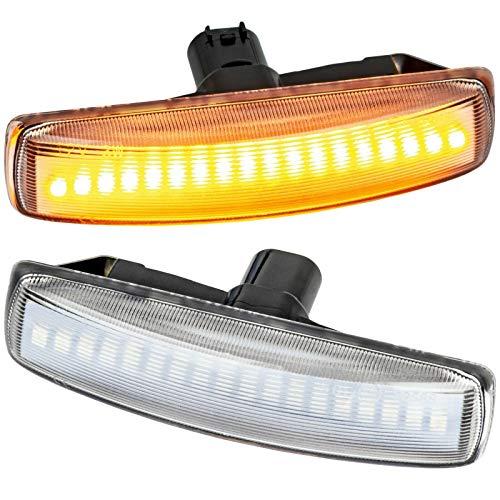 phil trade LED SEITENBLINKER kompatibel für LR Discovery III, Freelander II, RR Sport | KLARGLAS 72106