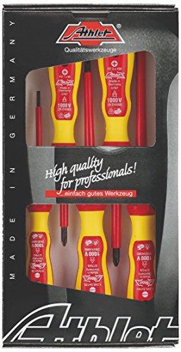 ATHLET-Qualitätswerkzeuge 510 Gr. 11 VDE-Schraubendreher-Sortiment mit 2K-Heft Schlitz/PZ Sortierung, 5-tlg