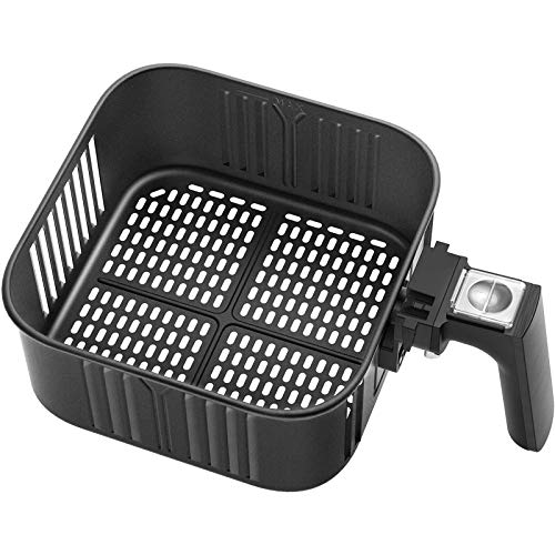 Air Fryer Replacement Basket 5.8QT For COSORI Black CP158-AF, CS158 & CO158 Air Fryers, Non-Stick Fry Basket, Dishwasher Safe, FDA Compliant, C158-FB