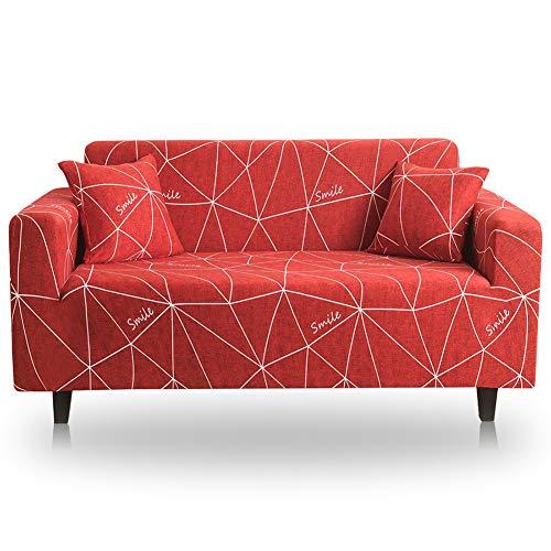 CAREXY Sofaüberzug Stretch, Elastischer Set für 1-4 Sitzer Sofa Sofabezüge Sofaüberwurf für Wohnzimmer Terrasse Schlafzimmer,A,4seater