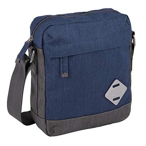 camel active, Satipo, Umhängetaschen Herren, Messenger Bags klein, 294 601 50, Blau, 24x8x25 cm