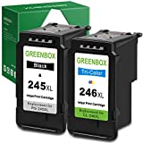 GREENBOX Remanufactured Ink Cartridges 245 and 246...