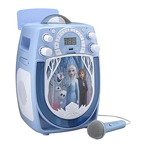 MA Disney Frozen II Karaoke with Snowflake Projector and Microphone (cd+g) -  98765r4e, 876543