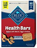 Blue Buffalo Health Bars Natural Crunchy Dog Treats Biscuits Bacon, Egg & Cheese 48 Oz box