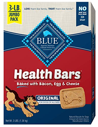 Blue Buffalo Health Bars Natural Crunchy Dog Treats Biscuits Bacon, Egg & Cheese 48-oz box