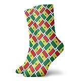 yting Calcetines casuales Calcetines de tejido de bandera de Senegal Calcetines de compresión de vestido corto Calcetines de compresión para mujeres Hombres