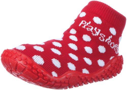 Playshoes Calzini da Mare con Protezione UV-Pois, Scarpe da Acqua Bambina, Rosso Rot 8, 20/21 EU