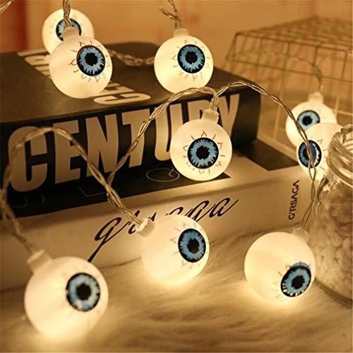 Luz de la Secuencia del Globo Ocular 20 Leds 9.8 pies Alimentado por batería para de Interior de la Mascarada Partes del hogar & Decoración 50 Light