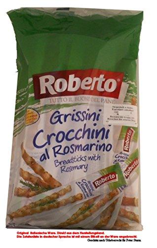Roberto Grissini Crocchini al Rosmarino/Brotstangen mit Rosmarin Salzige Backware 4 x 350g = 1400g