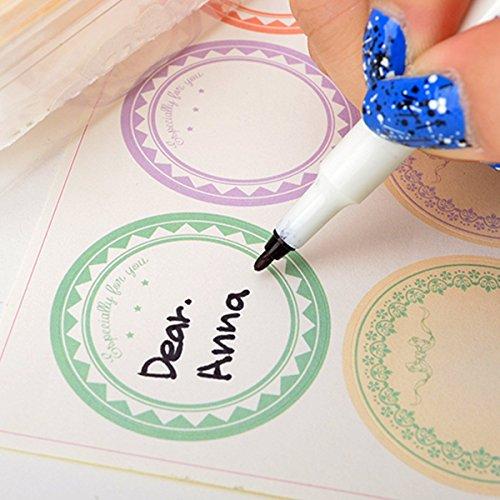 Soap Making Supplies Materials Stickers - Chawoorim 6type Circle Pastel Paper Stickers Labels Wrapping Tape Tags cards handmade Craft Soap Wrapping Paper Sticker