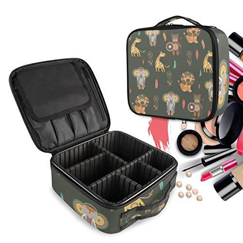 Lion De Cerf Trousse Sac Cosmétique Organisateur de Maquillage Pochette Sacs Cas avec Cloisons Amovibles pour Voyage Les Femmes Filles