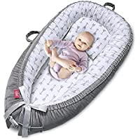 EIH 100% Soft Cotton Breathable and Portable Baby Lounger