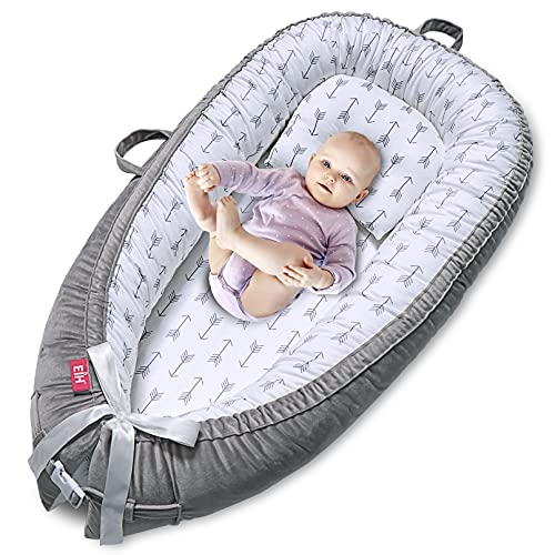 EIH Baby Nest,Baby Lounger Co-Sleeping Baby Bassinet for Bed Newborn Lounger 100%...