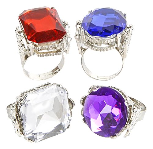 Jumbo Jeweled Rings Assortment (1 dz)