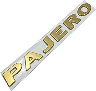 TRUSTTWO Zilveren Goud Fit for Mitsubishi Pajero Brieven Embleem Decor Sticker ABS 3D Auto Front Fender Bumper Trunk Font ...