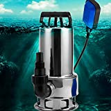 Water Transfer Pump 845 GPH, 1.6HP Stainless ON/Off Irrigation Pump, Shallow Well Pump for Lawn Garden (1.6HP 110-120V)