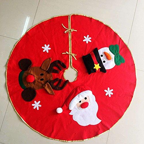 Base decorativa para árbol de Navidad MFCreative con diseño de Papá Noel, muñeco de nieve y alce, 1 pieza de...