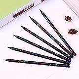 XDYBH Los productos de 6pcs / set DIY lápiz HB Diamond impresión en color de lápiz de dibujo de papelería Suministros Lápices lindo Oficina de la Escuela de escritorio multicolor práctica