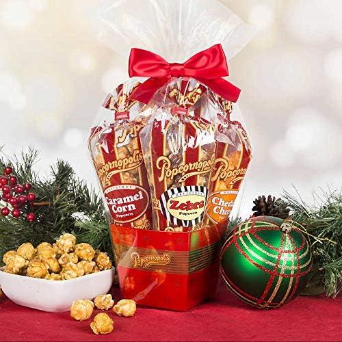 Popcornopolis Mini 5 cone Variety Popcorn Gift Basket Gluten Free 1 Gift Basket product image