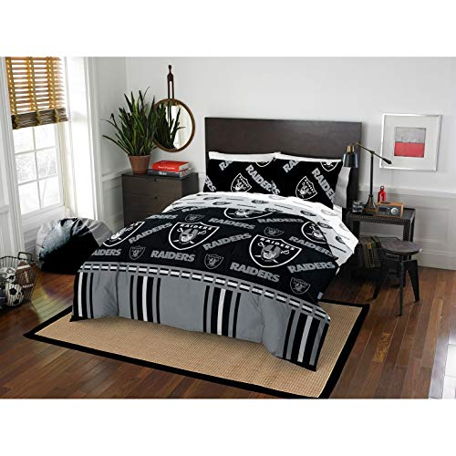 MISC 5 Piece Raiders Comforter & Sheets Set Full Queen, Football Sports Bedding for Boys Kids Bedroom Team Logo Printed Collegiate Pattern Home Decor Game Fans Gift Super Soft Cozy Quality Polyester