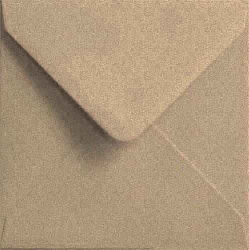 Todokraft -25 sobres de papel kraft reciclado (150 x 150 mm)