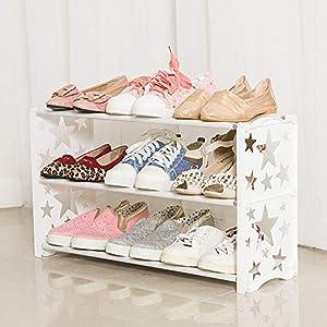 Ensamblaje Simple a Prueba De Polvo Para El Hogar, Dormitorio Económico, Estante Para Zapatos, Almacenamiento, Zapatero 3 capas 60x19x35cm / white