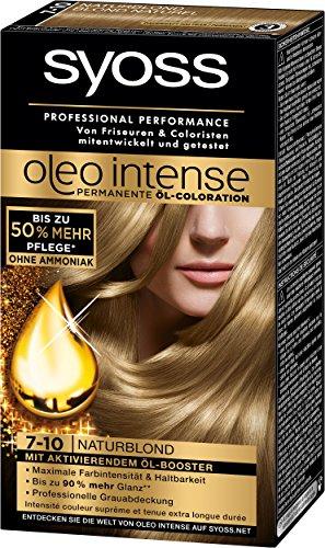 Syoss Oleo Intense Coloration 7-10 Naturblond, 3er Pack (3 x 115 ml)