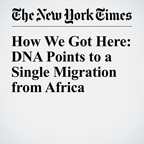 How We Got Here: DNA Points to a Single Migration from Africa audiobook cover art