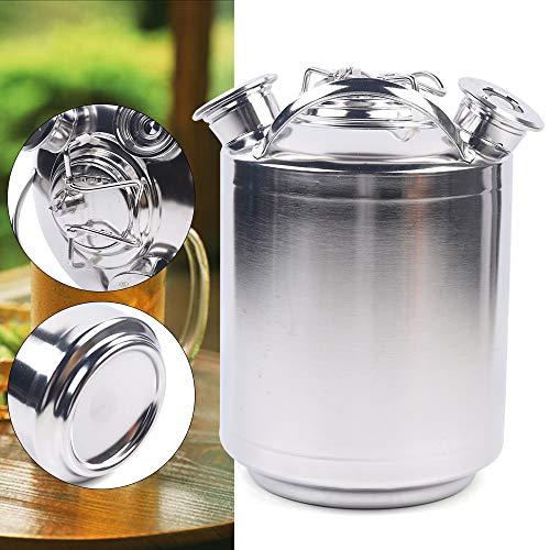10 litros de limpieza de cerveza, se puede instalar hasta tres tipos de válvulas diferentes, barril de limpieza de tres cabezales, barril de cerveza de acero inoxidable, barril de cerveza