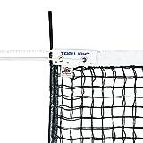 TOEI LIGHT(トーエイライト) 硬式テニスネット 幅106×長さ12,7m 網目3,5cm 無結節 スチールワイヤー14,3m 白帯ポリエステル センターベルト付 上部ダブルネット(サイドポール付) 日本テニス協会推薦品 B2285 B2285