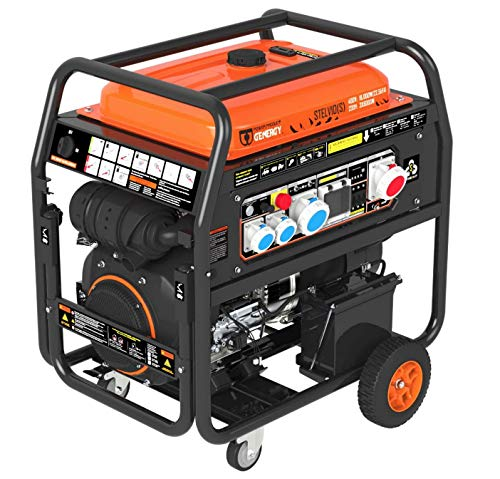 Generador Stelvio-S 22,5 kVA 18.000 W 18 kW 400 V – 3 x 6 kW 230 V profesional Gasolina Generador Generador Generador Profesional de Tools.de