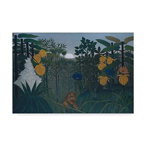 Trademark Fine Art The Repast of The Lion by Henri J.F. Le Douanier Rousseau 30x47-Inch Multicolor (Henri Rousseau The Repast Of The Lion)