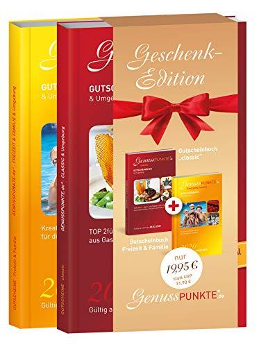 """Gutscheinbuch GenussPUNKTE Geschenkedition: Esslingen, Rems-Murr """"classic"""" + Freizeit & Familie 2020 - gültig ab sofort bis 28.02.2021 - TOP 2für1-, Wert- und Rabatt-Gutscheine aus Gastro, Freizeit"""