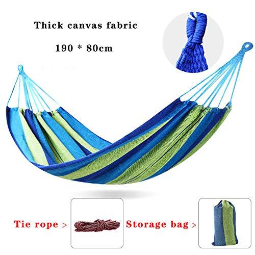 ZCXBHD Outdoor Zacht Katoen Stoffen Hangmat Dubbel Breed 2 Persoon Reizen Camping Hangmat