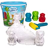Floof Modeling Clay - Reuseable Indoor Snow - Endless Creations with 3 Zoo Animal Molds and Cat Track Roller