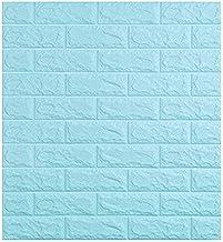 MUMUWU 3D Wallpaper Waterproof TV Background 3D Wall Stickers Living Room Wallpaper Bedroom Decoration Brick Wallpaper (Co...