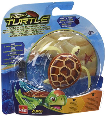 Goliath 32840 Robo-Turtle | Wasserschildkröte | Gigantischer Wasserspaß auch in der Badewanne | Lebensechte Bewegungen auf dem Land und im Wasser | braun