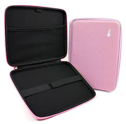 DURAGADGET Funda Rígida Rosa para Tablet Chuwi Hi9 Plus, TECLAST M20 - con Bolsillo De Red En Su Interior