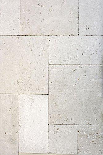 Tegel kalksteen, natuursteen, wit, tegel, Romeinse verband, Coloniale limestone voor vloer, wand, badkamer, toilet douche keuken, tegelspiegel, tegelverkleding, badkuip, mozaïekmat mozaïekplaat