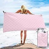 Toalla de Campamento de Viaje de Playa de Secado rápido, arreglo Floral Vintage temático de Amor Toalla de baño con Estampado de Escena de Naturaleza Abstracta simplista 160X80 cm