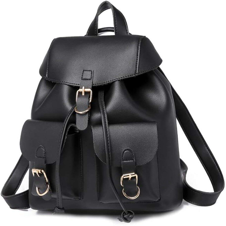 Amayay Daypacks Erwachsene Backpack Stylisch Vintage Fashion Damen Tasche Casual Multifunktions Einfacher Stil Leder Rucksack Handtasche Pu 26  15  30Cm (Farbe   Colour, Größe   One Größe)