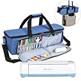 Luxja Carrying Bag Compatible with Cricut Die-Cutting Machine and Supplies, Tote Bag Compatible with Cricut Explore Air (Air2) and Maker (Bag Only, Patent Pending), Blue