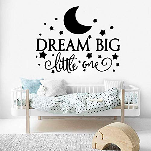 HXRRB Dream Home Sticker Mural Décor Salon Chambre d'enfant Chambre Murale Marron XL 58 cm X 73 cm
