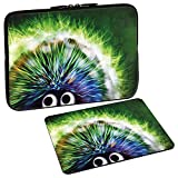 Pedea Design Schutzhülle Notebook Tasche bis 15,6 Zoll (39,6cm) mit Design Mauspad, Green Hedgehog