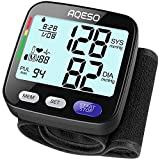 Blood Pressure Monitor Wrist Cuff - Accurate Automatic Digital BP Cuff Machine for Home Use, 5.3' - 8.5' Wrist, Large LCD w/Backlit, Easy to Carry, 2x199 Memory, Irregular Heartbeat Pulse Detector