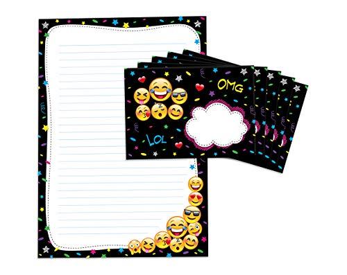 Briefblock mit Umschlag für Kinder Mädchen Jungen Kinder Briefpapier-Set (Block A4 mit 25 Blätter + 15 Umschläge)