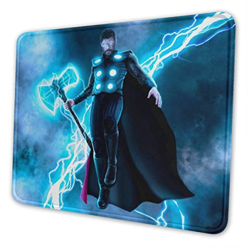 Thor Mouse Pad Mouse Mat with Stitched Edge Non-Slip Rubber Base Large for Laptops Computers and PC Gaming 12 x 10 x 0.12 Inches Mouse Extended Pads10 x 12 inch