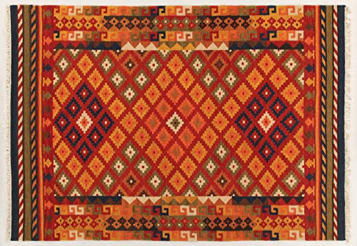 Kilim Carpets by Jalal Alfombra Kilim Sivas 1 Rojo/Multicolor 60 X 120 cm