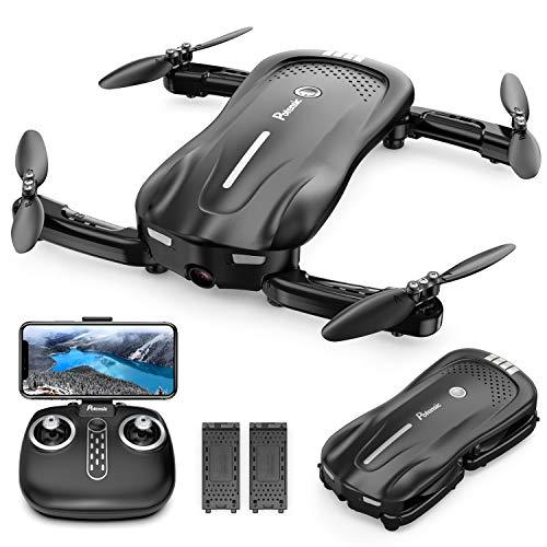 Potensic Faltbare Drohne mit Kamera, 1080P Mini Drohne WiFi FPV Quadrocopter mit Optischem Fluss und Zwei Batterien, Höhe Halten, Antikollisions RC Drohne für Kinder Anfänger und Experte